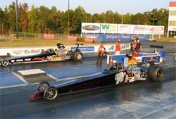 K&N Filters backed dragster at NHRA Lucas Oil Drag Racing Series at Atlanta Dragway