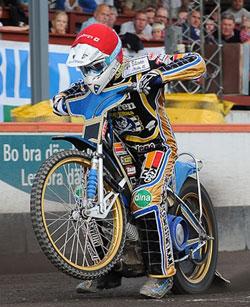 Swedish Speedway Motorcycle Racer Linus Sundstrom