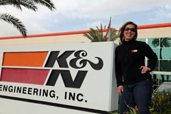 Lisa begain working at K&N Engineering in 2011 as a Product Specialist- a position that still allows her to stay involved with drag racing.