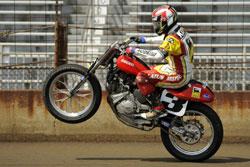 Joe Kopp and his Ducati-powered motorcycle
