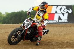 K&N rider Joe Kopp literally found the tracks groove in order to win.
