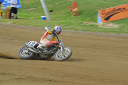 Getting on two-wheels and sliding into turns at over 130mph on tracks as big as a mile is enough to rattle the nerves of even the most experienced competition riders.