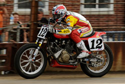 18-year-old flat-track motorcycle rookie Brad Baker
