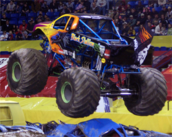 Ford Powered K&N Black Stallion gets big air in Monster Truck action