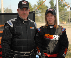 Father and daughter Ken and Katie Jones competed at the 17th Annual STA-BIL Challenge of Champions Labor Day weekend