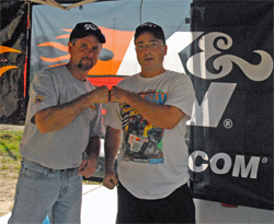 Kevin Penne and Mike Miller have each been around lawn mower racing since 1993 and are both Triple Crown Champions