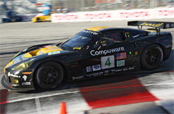 American Le Mans Series trouble free run to victory for Corvette Racing's No. 4 C6.R on the Streets of Long Beach