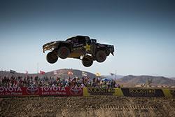 RJ Anderson getting air at Lucas Off-Road Racing Series Round 8 at Estero Beach, Baja California