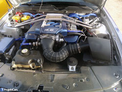 Louie Bustillos plans to add power and torque by replacing his 2009 Ford Mustang GT stock airbox with a K&N air intake.