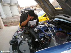 It is not without K&N's easy-to-follow air intake installation instructions that Louie Bustillos adds more horsepower to his Mustang GT.
