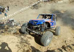 Off road rock crawling with a fast pace bring up the loose rocks and sharp edges on the XRRA Nationals course
