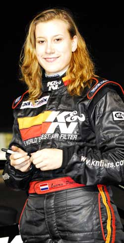 17 Year Old Racer Laura Poorter
