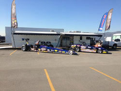 NHRA racer Luke Bogacki competes in the Super Gas and Super Comp categories