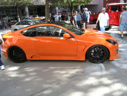 2009 Hyundai Genesis Coupe in the Main Entrance Walkway of SEMA 2009