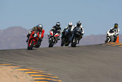 Riding in traffic on the track teaches Rosas the importance of holding her line.