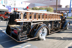 "1944 Mac Fire Truck at SEMA called the ""Black Dragon"""