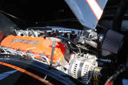SEMA 2011 displayed this SRT10 Viper motor on a 1944 Mac Fire Truck