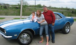 Dick (Dad) Macy and Katie Carter and the '68 Street Camaro