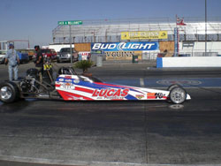 Bud Fizone's Jr. Comp is the third dragster Madison Whitten is racing this year.