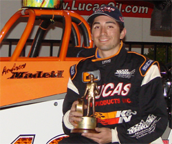 NHRA Sportsman Class Racer Andrew Madrid won his first Wally at Southwestern International Raceway in Tucson, Arizona