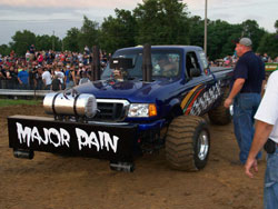 Jonathon Payne at Lucas Oil Pro Pulling event at Goshen Park in Clay City, Indiana