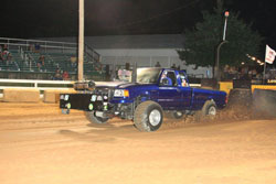 Jonathan Payne's 2005 Ford Ranger with a 485 cubic inch big block won The Battle of the Bluegrass Pulling Series event with a 291.56 foot pull.