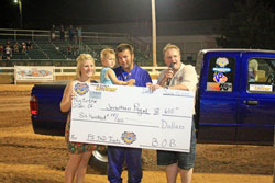 Payne brought home the bacon for his family, earing the first place check in the Pro Stock 4WD class.