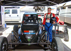 Malcom Pointon's racing goals for 2010 include winning an Unlimited Buggy Championship and earn a truck ride