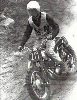 Early in his career Malcom Smith rode a Greeves, built by a British motorcycle manufacturer producing motorcycles mainly for the off-road market