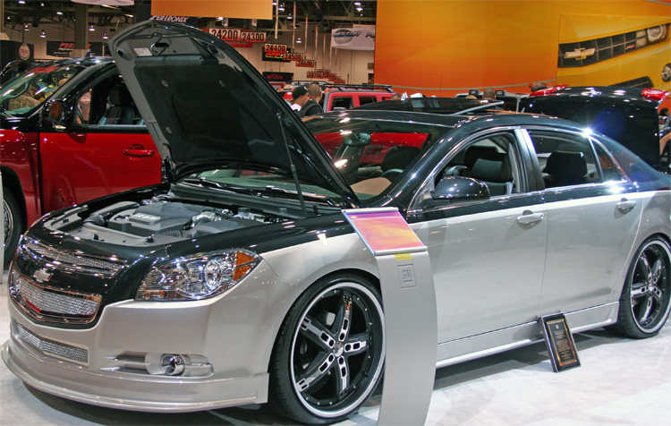 2009 Chevy Malibu Has Giovanni Wheels And Pirelli Tires Along With A Two Tone Paint Job