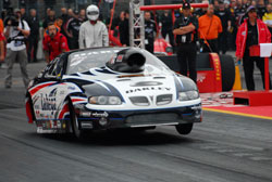 Malmgren came up just a tick behind fellow countryman Jimmy Alund in the final at Santa Pod, but he locked up his third FIA Championship.