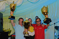 Winning the FIA Championship for a third time was an incredible experience according Malmgren (Malmgren in red)
