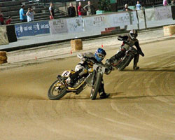 Marco Belli ignited his season by winning the first round of the 2012 Italian Flat Track Championship.