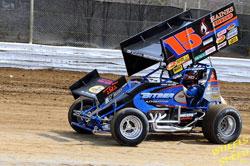 Mark Bitner's #15 410 Winged Sprint Car