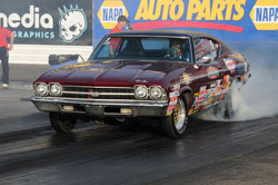 Mark Faul drives a 1969 Chevrolet Chevelle in the Stock Class