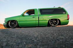 Derek Marlatt built this hot rod style Chevy Silverado truck his way