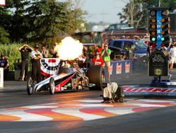 Tom Martino and Martino Motorsports recently lost all hopes of a victory at the Summit Motorsports Park, when a nitrous explosion put them out of the race.