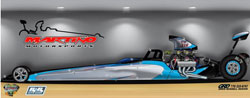 At the end of last season the Martino Motorsports dragster only existed in an artist's illustration