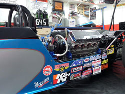 "The new car is a 260"" Mac Sherrill rear-engine dragster"