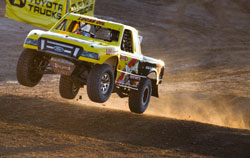 Wind was a problem for both round five and six of LOORS event - trucks were consistently over shooting their landing strips.