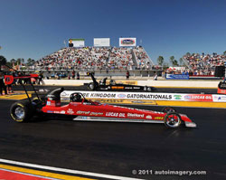 Darrell Gwynn took to the race track for the first time in twenty-one years, alongside his old rival and friend Garlits