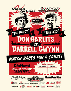 This event is to help raise awareness and additional funding for the Darrell Gwynn Foundation, whose mission is to provide awareness, prevention, support and ultimately a cure for Paralysis and the Don Garlits' Museum of Drag Racing which showcases and preserves drag racing history.
