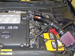 57-6015 Air Intake Installed in Nissan Maxima