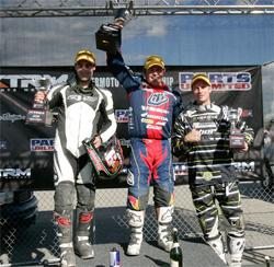 Team Monster Energy HMC Burkhart Racing KTM Rider Mark Burkhart takes third place at Fontana, California