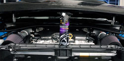 >K&N air intakes on custom Nissan 370z at SEMA