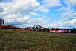Bryce Menzies recently earned his second win in a row in the TORC Off -Road Racing Series while racing at the Bark River International Raceway.