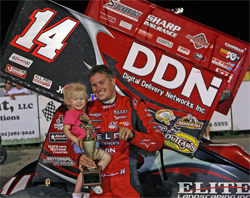 Jason Meyers Wins Thriller World of Outlaws Race at Red River Speedway in West Fargo, North Dakota