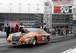 K&N Sponsored Racer Mike Ferderer in his 2003 Pontiac Grand Am during the SummitRacing.com NHRA Nationals