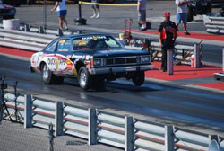 Michael Beard's Duck Tape Volare had its NHRA Super Stock debut in Atlanta