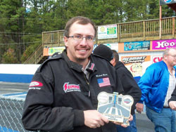 Before the CCRA race Beard was honored for his third place finish in last year's point chase.